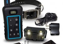 Pet Resolve Dog Training Collar with Remote – LED Night Light, Removable Shock, Best Shock Collars For Hunting Dogs